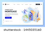 concept of house loan or money... | Shutterstock .eps vector #1445035160