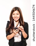 young businesswoman with... | Shutterstock . vector #144504674