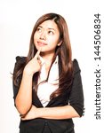 thinking businesswoman | Shutterstock . vector #144506834