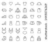 set of 50 icons of women's... | Shutterstock .eps vector #1445076269