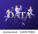 data word and developers in... | Shutterstock .eps vector #1445079800