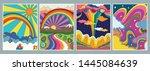 1960s  1970s art style ... | Shutterstock .eps vector #1445084639