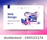 landing page web design  the... | Shutterstock .eps vector #1445121176