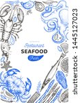 seafood and fish design... | Shutterstock .eps vector #1445127023