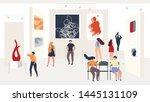 visiting abstract modern art...   Shutterstock .eps vector #1445131109