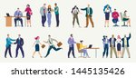 businesspeople in different... | Shutterstock .eps vector #1445135426