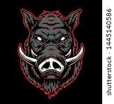 vintage hog head concept in... | Shutterstock .eps vector #1445140586