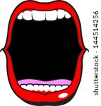 wide open mouth | Shutterstock .eps vector #144514256