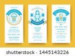 oktoberfest flyers or banners... | Shutterstock .eps vector #1445143226