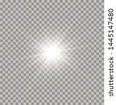 white glowing light burst... | Shutterstock .eps vector #1445147480