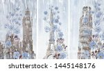 a collection of designer oil... | Shutterstock . vector #1445148176