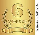 golden laurel wreath with...   Shutterstock .eps vector #144514976