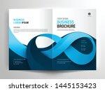 vector brochure layout  flyer... | Shutterstock .eps vector #1445153423