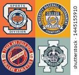 vintage sporting college... | Shutterstock .eps vector #1445155910