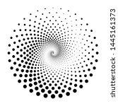 design spiral dots backdrop.... | Shutterstock .eps vector #1445161373