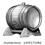 antique engraving illustration... | Shutterstock .eps vector #1445171486