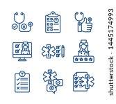 patient satisfaction icon set... | Shutterstock .eps vector #1445174993