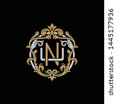 initial letter u and n  un  nu  ...   Shutterstock .eps vector #1445177936