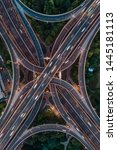 aerial view of highway and... | Shutterstock . vector #1445181113