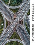 aerial view of highway and... | Shutterstock . vector #1445181116