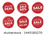 set of stamp tag badge sale... | Shutterstock .eps vector #1445183270