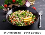 tabbouleh salad. traditional... | Shutterstock . vector #1445184899