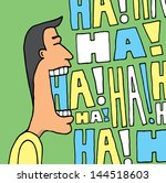 man laughing in many colors | Shutterstock .eps vector #144518603