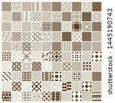 vector graphic vintage textures ...   Shutterstock .eps vector #1445190743