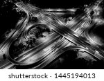 aerial view above of busy... | Shutterstock . vector #1445194013