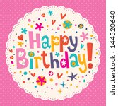 happy birthday | Shutterstock .eps vector #144520640