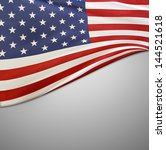 closeup of american flag on... | Shutterstock . vector #144521618