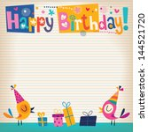 happy birthday card | Shutterstock .eps vector #144521720
