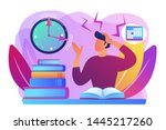terrible time crunch  cramming... | Shutterstock .eps vector #1445217260