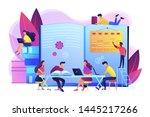 preparing test together.... | Shutterstock .eps vector #1445217266