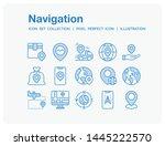 navigation icons set. ui pixel...   Shutterstock .eps vector #1445222570