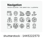 navigation icons set. ui pixel...   Shutterstock .eps vector #1445222573