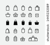 shop  bag  tote  store  gift... | Shutterstock .eps vector #1445232089