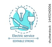 electric service concept icon.... | Shutterstock .eps vector #1445240006