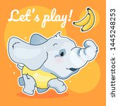 Cute Elephant Kawaii Character...