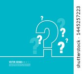 question mark icon. help symbol....   Shutterstock .eps vector #1445257223