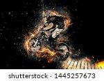 Man Riding A Mountain Bike With ...