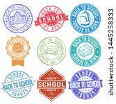back to scool stamp. seal.... | Shutterstock .eps vector #1445258333
