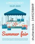 summer food fair brochure... | Shutterstock .eps vector #1445258849