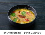 Stock photo tom yam kong or tom yum tom yam is a spicy clear soup typical in thailand thai dish cuisine tom 1445260499
