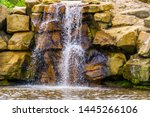 Waterfall With Large Boulders ...