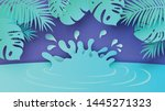 scenery of natural pond in the... | Shutterstock .eps vector #1445271323