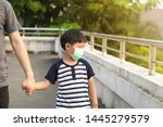 a 5 years old boy wearing a... | Shutterstock . vector #1445279579