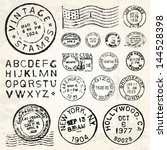 vector postage stamp set great