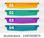 tabbed labels. color...   Shutterstock .eps vector #1445303870