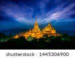 Thatbyinnyu Pahto, Bagan, Myanmar , Night view of great padogas in Bagan, Myanmar